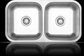 Sienna Piatto™ - Double Bowl Undermount Sink w/ Center Drains